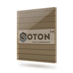 Сотовый поликарбонат SOTON 10мм бронза