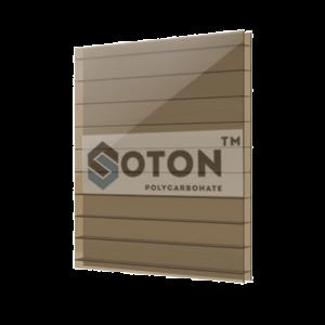 Сотовий поликарбонат SOTON 8 мм бронза