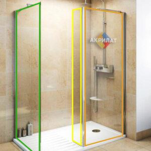 Оргскло (протиударне) для душових кабін або перегородок