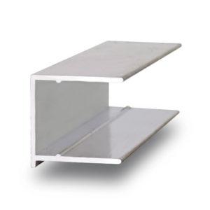 Торцевой алюминиевый профиль 10 мм.