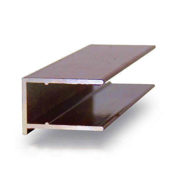 Торцевой алюминиевый профиль 10 мм.коричневый