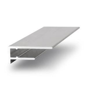 Торцевой алюминиевый профиль 4 мм.
